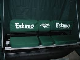 eskimo profish 350 shelter bench seat cover hyfax and hitch