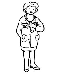 female doctor in community helpers coloring page netart