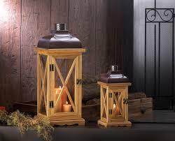 hayloft large wooden candle lantern wholesale at koehler home decor