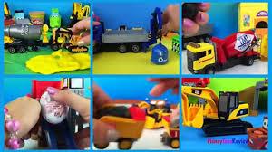 mighty machines u0026 playdoh play excavators bulldozers