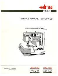 elna pro 4de 4dc 5de 5dc serger service repair manual