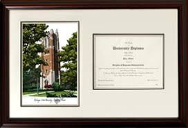 michigan state diploma frame michigan state spartans beaumont tower lithograph diploma frames