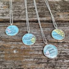 World Map Necklace by Ongoing Obsession Vintage Map Necklaces Christine Stoll Jewelry