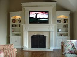 fireplace mantels with bookshelves connection cherry bookcases and