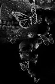 203 best 3 skulls butterflies images on skull