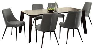 catchy ultra modern dining room chairs grey fabric dining room