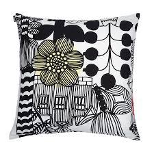 Black Sofa Pillows by Marimekko Lintukoto White Black Throw Pillow Marimekko Throw