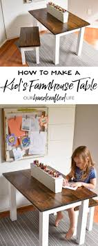 how to make a child s desk how to make a diy farmhouse kid s table farmhouse table kids s