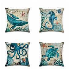 theme pillows throw pillows sea theme