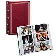 acid free photo albums 3 ring pocket burgundy album for 504 photos 4 x6 3