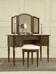 Antique Vanity With Mirror Bedroom Antique Bedroom Furniture Of Dark Brown Wooden Vanity
