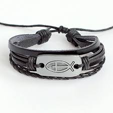 braided leather charm bracelet images Men 39 s leather bracelet women 39 s leather bracelet jesus jpg