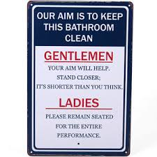 keep the bathroom clean toilet toilet hanging sign plaque metal keep this bathroom clean ebay