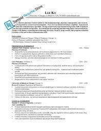 Cashier Skills Resume Pharmacy Technician Responsibilities Resume Free Resume Example