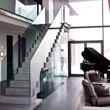 Modern Glass Stairs Design Modern Staircase With Concrete Floors U0026 Glass Staircase Zillow