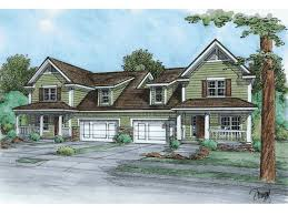 Multi Family Homes Floor Plans Plan 6984am High Ceiling Duplex With Options Ceilings Pantry