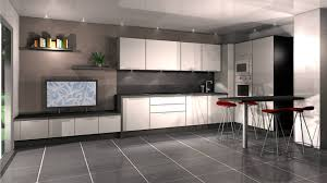 cuisine moderne blanc cuisine noir et blanc laqu beautiful beautiful cuisine sol damier