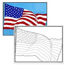 usa flag coloring page art projects for kids