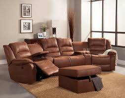 home theater console furniture 5 pc tucker collection brown bomber jacket microfiber upholstered