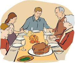 Thanksgiving Feast Clip Table Clipart Thanksgiving Feast Pencil And In Color Table
