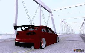mitsubishi evo 2016 stance mitsubishi lancer evolution x v2 make stance for gta san andreas