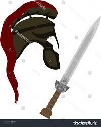 best hd stock vector roman helmet and sword illustration library