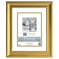 timeless frames lauren 1 opening 11 in x 14 in gold matted