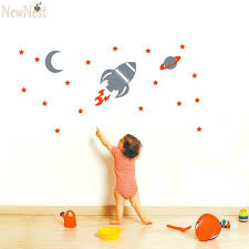 Boys Nursery Wall Decals Rocket Ship Wall Decal With Rocket Wall Decal Baby Boy Nursery