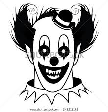 black white creepy clown eps 10 stock vector 242211175 shutterstock