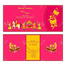 indian wedding invitation vector illustration of indian wedding invitation card royalty free