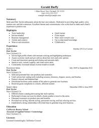 fashion stylist resume objective examples cover letter hair salon