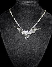 silver gothic necklace images Gothic bat necklace shrine of hollywood jpg