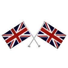 Union Flags Two Pack Union Jack British Uk Car Flags Flag Souvenir Souvenir
