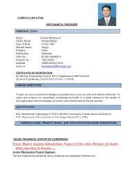 Career Objective For Resume Mechanical Engineer Mechanical Project Enginner Cv