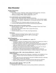 Resume Job In Linux by Download Cisco Support Engineer Sample Resume
