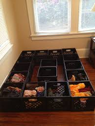 Make Your Own Bed Frame Milk Crate Bed Frame Awesome Kid Friendly Spaces Pinterest