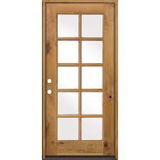 32 X 80 Exterior Door Krosswood Doors 36 In X 80 In Classic Alder 10 Lite Clear