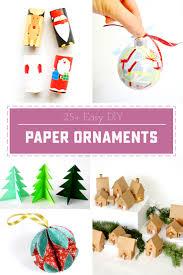 25 easy diy paper ornaments sweet designs