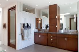 Stand Alone Tubs Bathroom Modern With Brown Wall Dark Wood