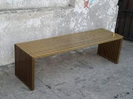Slat Bench Chloe Satin Brass Slat Bench Sunbeam Vintage