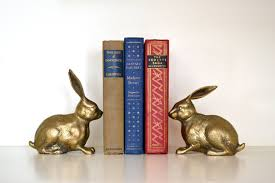 rabbit bookends vintage brass rabbit bookends antiqued metal bunny book ends