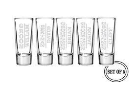 Wedding Gift Glasses 5 Personalized Shot Glasses Groomsmen Favor Gifts Wedding
