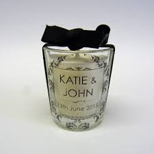 personalised wedding favour votive candles candles by simply flowers