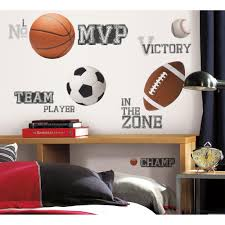 roommates all star sports saying peel and stick wall decal roommates all star sports saying peel and stick wall decal