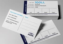 Hometown Business Card Design Prevent Misfueling Aopa