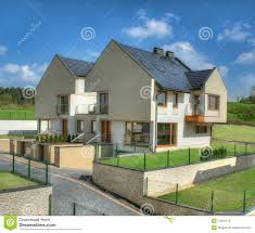 modern detached houses house modern