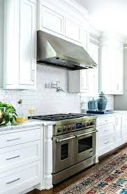kitchen with stainless steel backsplash white kitchen with stainless steel backsplash white kitchen
