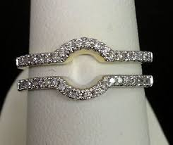 Wedding Ring Enhancers solitaire enhancer diamonds ring guard wrap 14k yellow gold