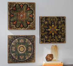 wood plank artwork printed wood tiles wall set pottery barn