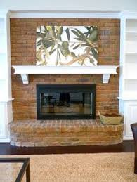 primitive paint colors with red brick fireplace kitchen 2017